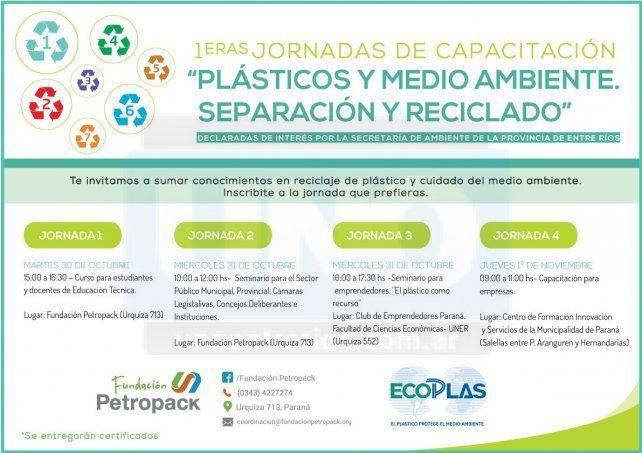 Capacitación en plásticos y medio ambiente