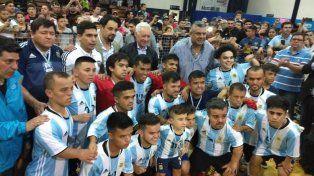 Con el presidente de AFA