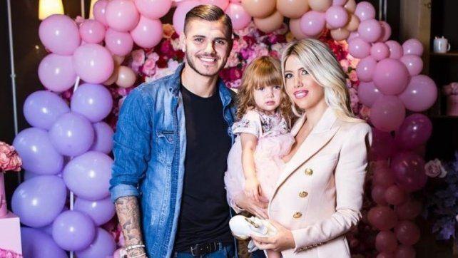 El polémico festejo de cumpleaños de la hija de Wanda Nara y Mauro Icardi: los destrozaron en las redes
