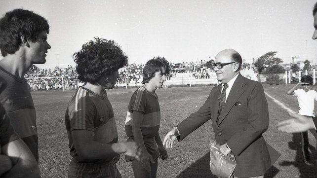 Hace 37 años, el más grande jugó en el estadio de Patronato
