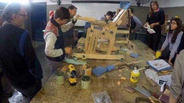 Compromiso. Los estudiantes participan en el programa nacional Construir Inclusión.