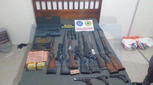 Allanaron la casa del hijo de un exgobernador de Entre Ríos y encontraron un arsenal