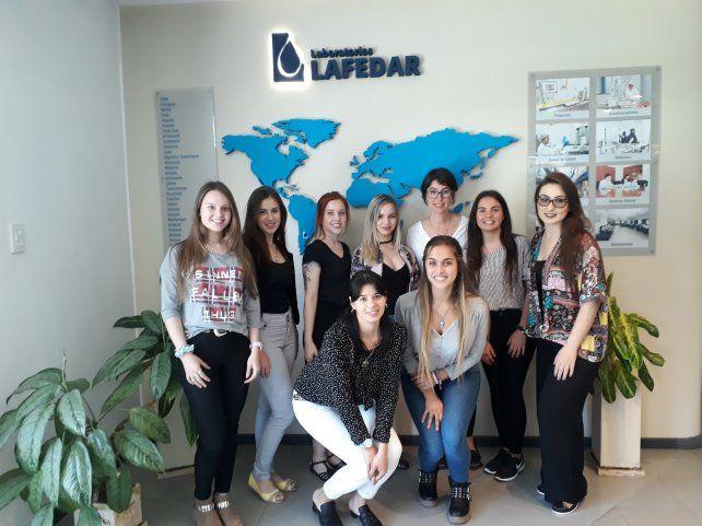 Estudiantes de visita en Lafedar.