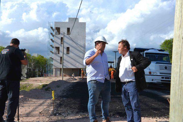 Continúan las obras en el barrio de 600 viviendas Procrear
