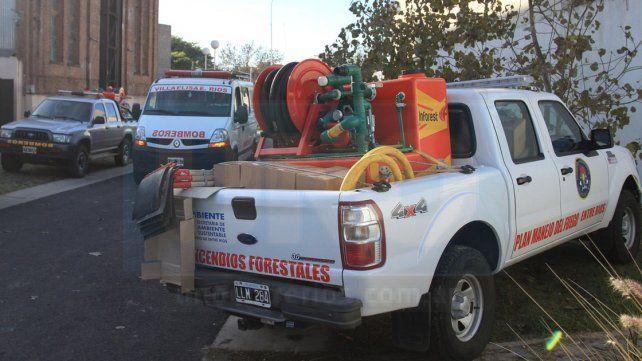 Destinarán 13 camionetas a luchar contra incendios
