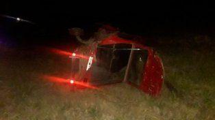 Un muerto tras choque y vuelco en la Ruta Nº 2