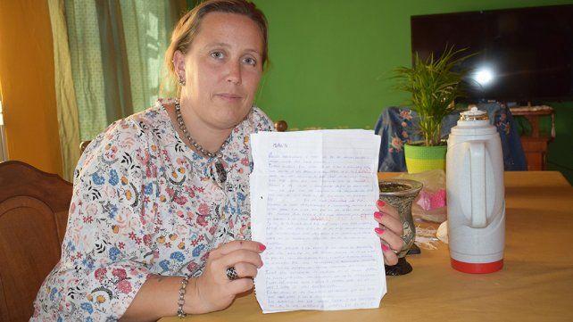106 días limpia, la carta de una vialense a su mamá
