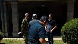 Allanamiento. En el Batallón se realizó la requisa y detención. Foto: Diario Textual