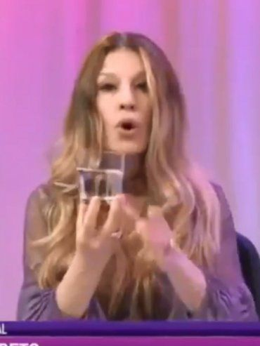 Gisela Barreto, el sexo anal y un vaso de agua