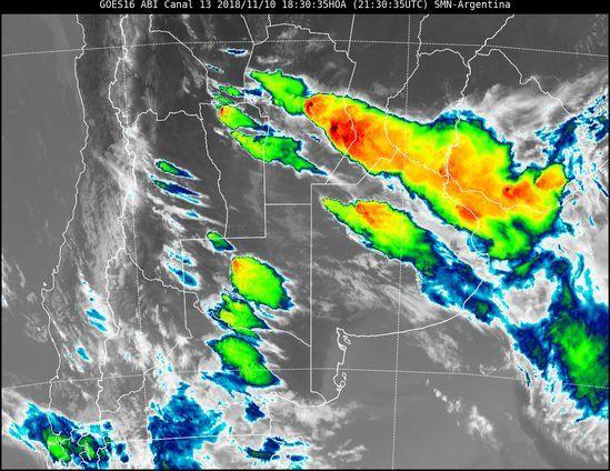 Alerta meteorológica con tormentas y granizada para Entre Ríos