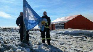 Experiencia. Diego Petersen pasó 12 meses en Base Marambio y retornó el martes a Paraná.