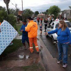 Ante las intensas lluvias, la Municipalidad asiste a más de 400 familias