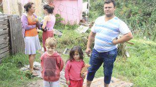 Los niños del barrio Papa Francisco son los que más están sufriendo.