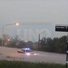 Por las intensas lluvias, una parte de Nogoyá se inundó