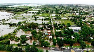 Así está Nogoyá tras las lluvias torrenciales