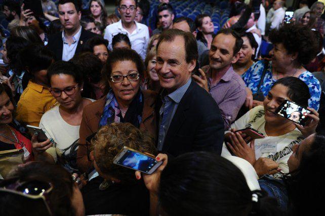 El mandatario destacó la buena relación que mantiene con el gremio que lidera José Allende.