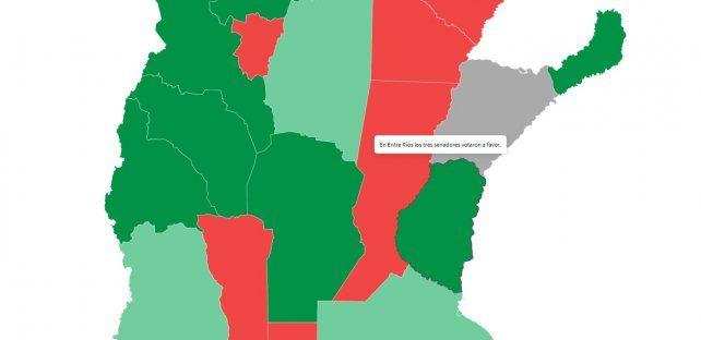Presupuesto 2019: De qué provincias salieron los votos para aprobar la ley de leyes