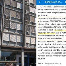 El mail de la funcionaria preocupa a gran parte de la comunidad docente que busca la implementación efectiva de la ley