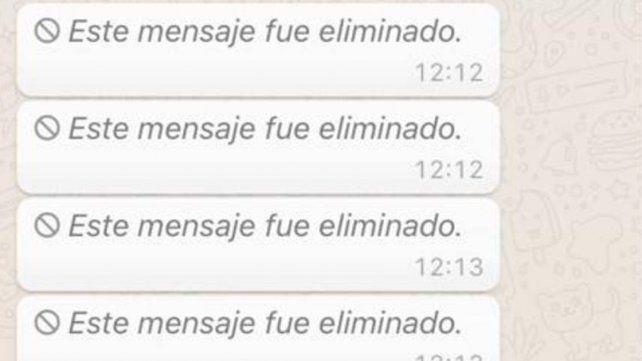 Ahora podés ver el contenido de los mensajes eliminados en WhatsApp
