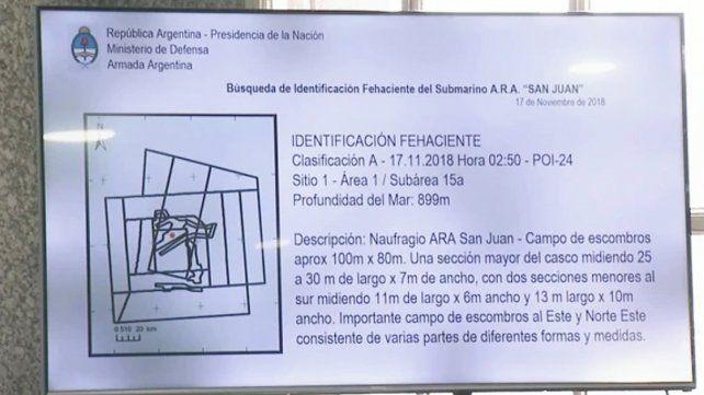Estas son la las primeras imágenes del Ara San Juan