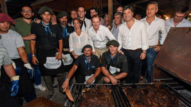 Bordet visitó la Fiesta Nacional del Asado con Cuero y anunció obras