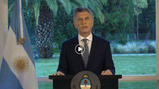 Macri grabó un mensaje por el hallazgo del submarino ARA San Juan