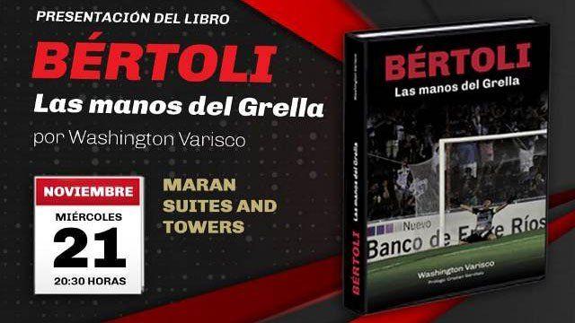 El periodista Washi Varisco presenta el libro de Sebastián Bértoli