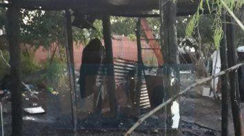 Nada en pie. La casa de Parera, quedó literalmente destruida.