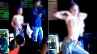 Descontrol en un boliche: Chicas muestran partes íntimas a cambio de un espumante