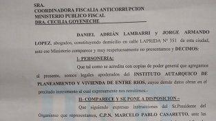 El IAPV fue a la Oficina Anticorrupción por una denuncia del senador Kisser