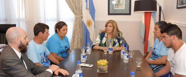 La ministra Romero recibió a los familiares del futbolista fallecido en un siniestro vial