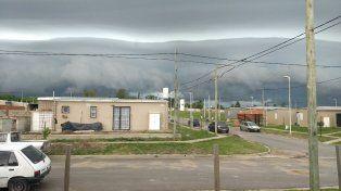 La tormenta llegando a San Benito.