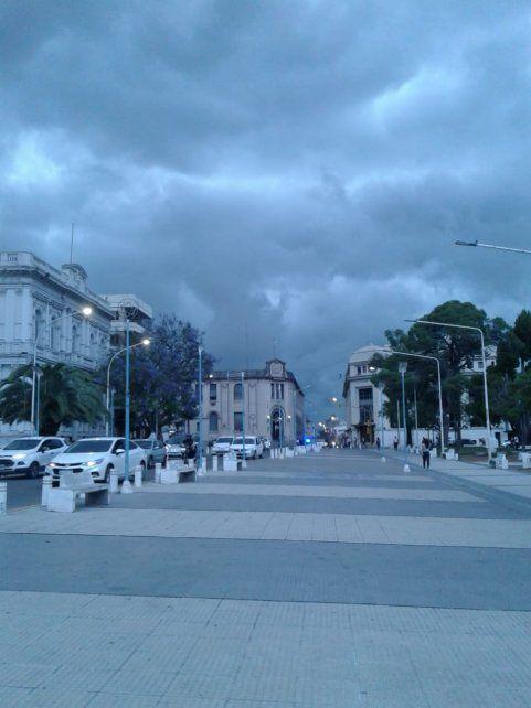 Así estuvo este jueves el centro de Paraná.