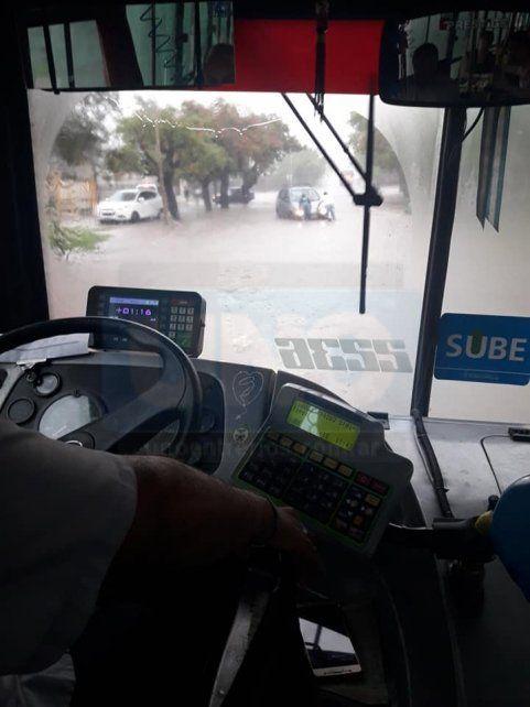 Anegadas. por la lluvia torrencial