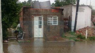 Casas dañadas. Las precipitaciones afectaron varias viviendas en la capital.
