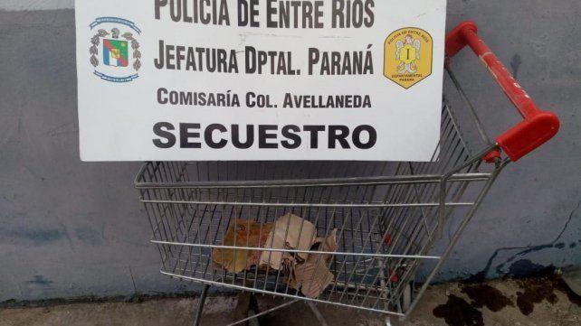 Colonia Avellaneda: La policía recuperó un changuito de supermercado