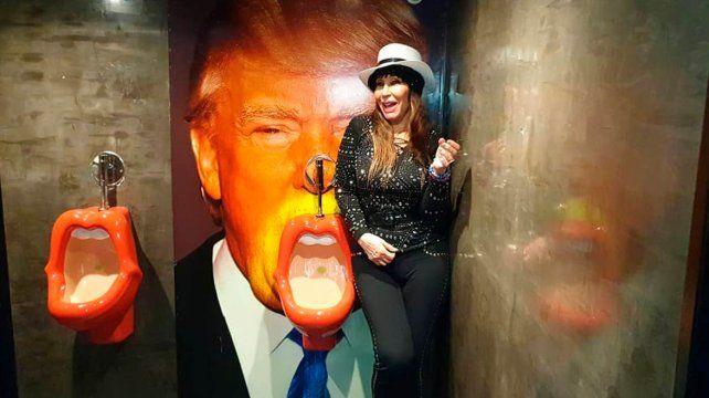 Las travesuras de Moria en Barcelona: Le orinó en la boca a Donald Trump