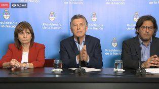 Macri habla sobre los hechos violentos del fin de semana