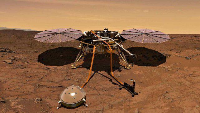 La NASA vuelve a Marte con un topo para estudiar su interior