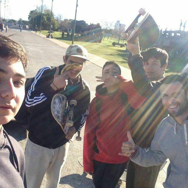 Los skaters de La Histórica.