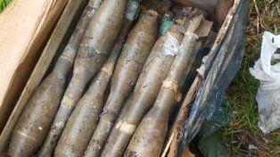 Encontraron 20 granadas de gran poder explosivo en el Volcadero