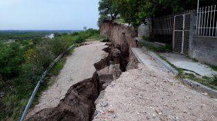 Científicos advierten sobre nuevos deslizamientos en la costa del Paraná