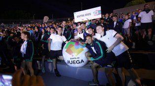 Apertura. Los deportistas entrerrianos participaron del acto inaugural el miércoles por la noche.