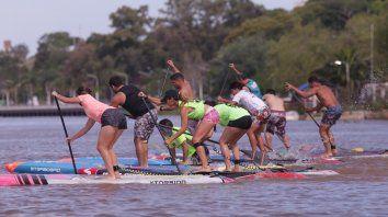 Les integrantes de la escuela SUP Paraná organizaron una carrera.