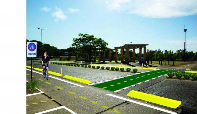 Pensando en las personas demarcarán mil metros de ciclovías en Concordia