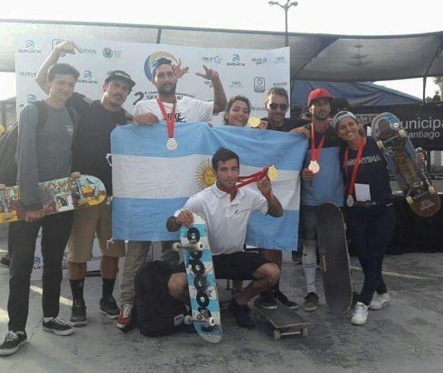 Los representantes argentinos en Lima.