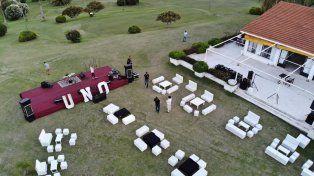 El golf está listo para recibir a los invitados especiales.