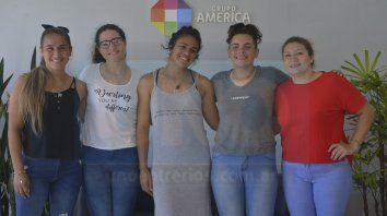 Ilusionadas. Belén, Haritza, Florencia, Karen y Vanina contaron cuáles son sus expectativas para el Seven de la República.