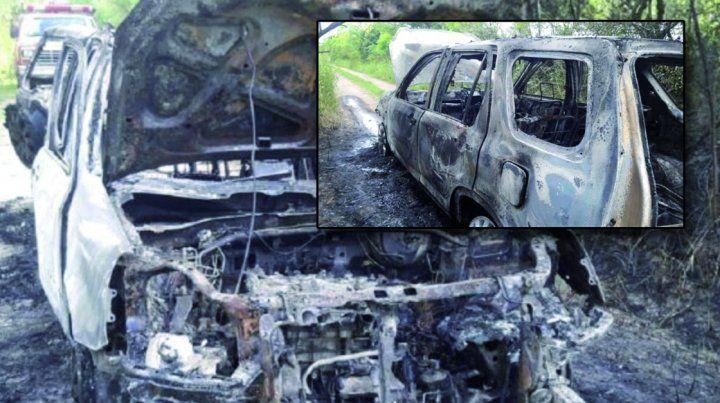 La camioneta de De la Fuente apareció incendiada
