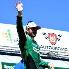 El festejo del piloto que lleva tres títulos en el TC